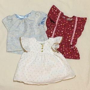 BUNDLE Three OshKosh Girls Blouse 12 months